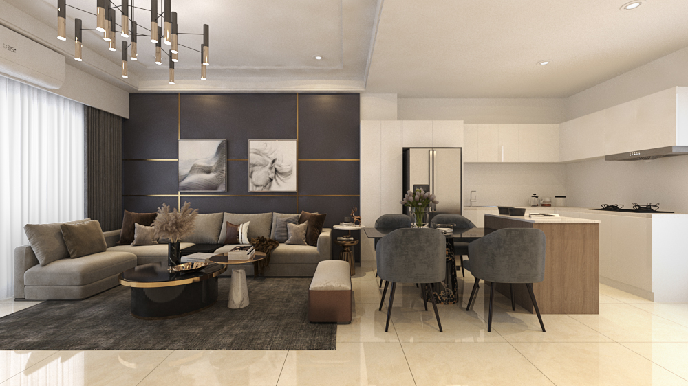 住宅空間-客廳;廚房